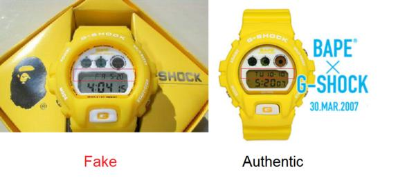 Click image for larger version.  Name:gshock-bape-dw6900-yellow-fake-authentic-001.jpg Views:468 Size:19.7 KB ID:4592