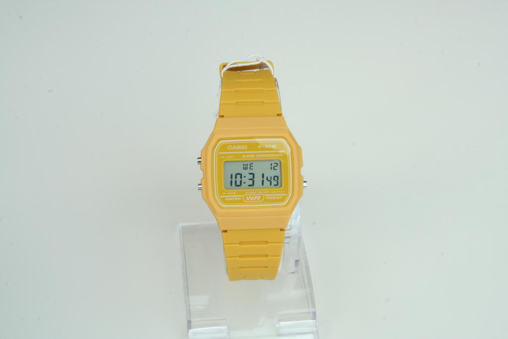 Casio F91W Yellow